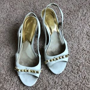 Michael Kors kitten heal sling back shoes